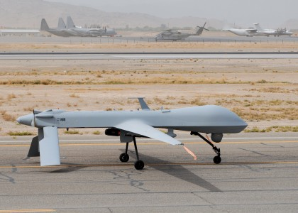 MQ-1 Predator returns from a mission