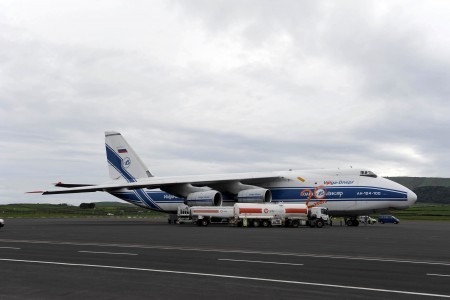 Russian An-124 stops at Lajes Field