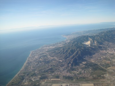 Sierra de Mijas, view from a plane