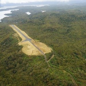 The airstrip on Stewart Island