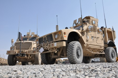 US Army M-ATV and MRAP MaxxPro Dash in Afghanistan