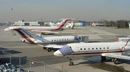 Warsaw Airport Yak 40s and Tu 154s March 2007