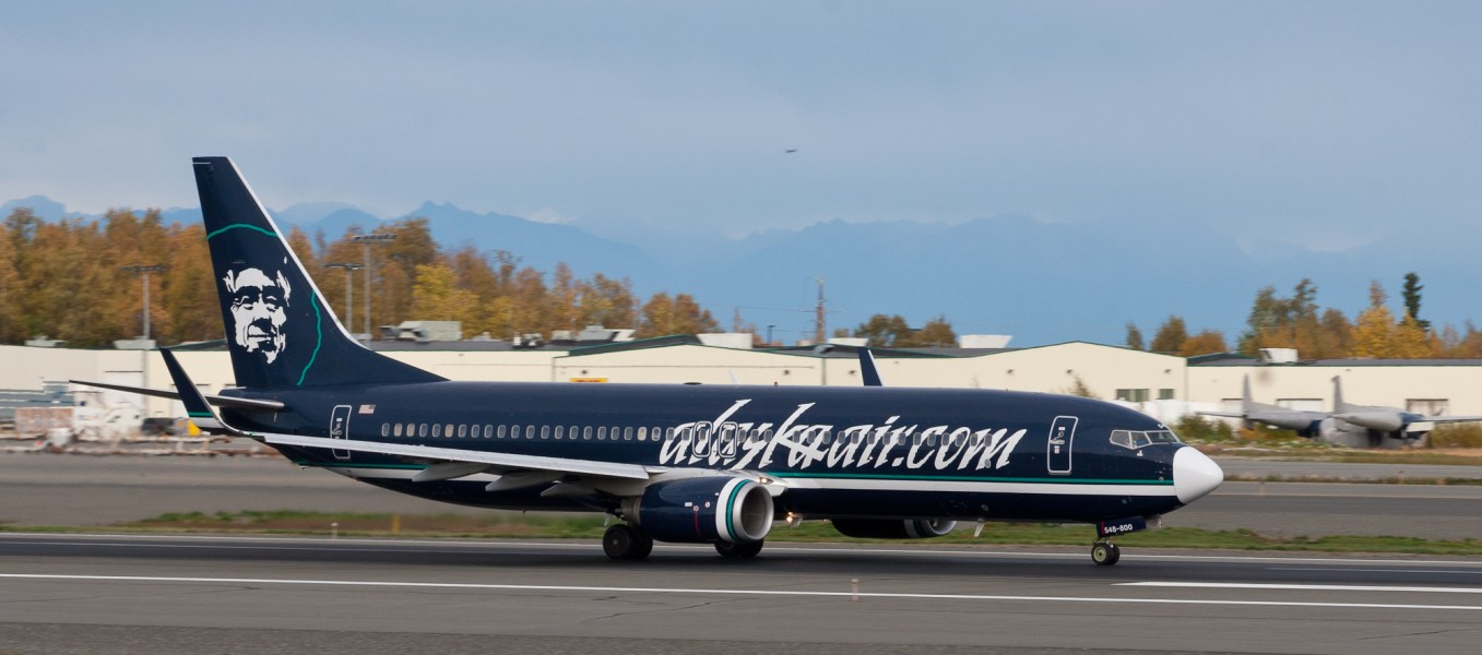 Alaska Air 737 with its web link (6863692889)