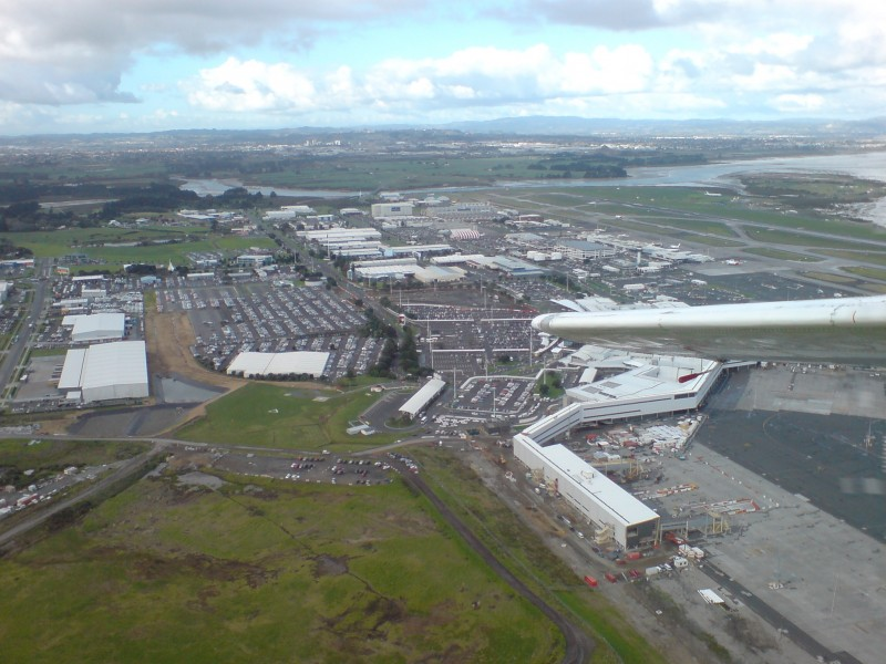 Auckland Airport Seen From Light Plane 04