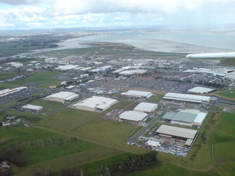 Auckland Airport Seen From Light Plane 05