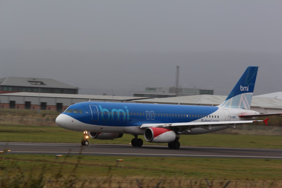 Bmi (G-MIDY), Belfast City Airport, November 2012 (02)