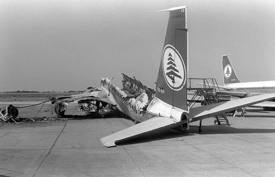 Destroyed MEA aircraft 1982