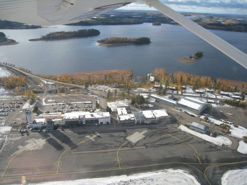 Kuopio airport from air