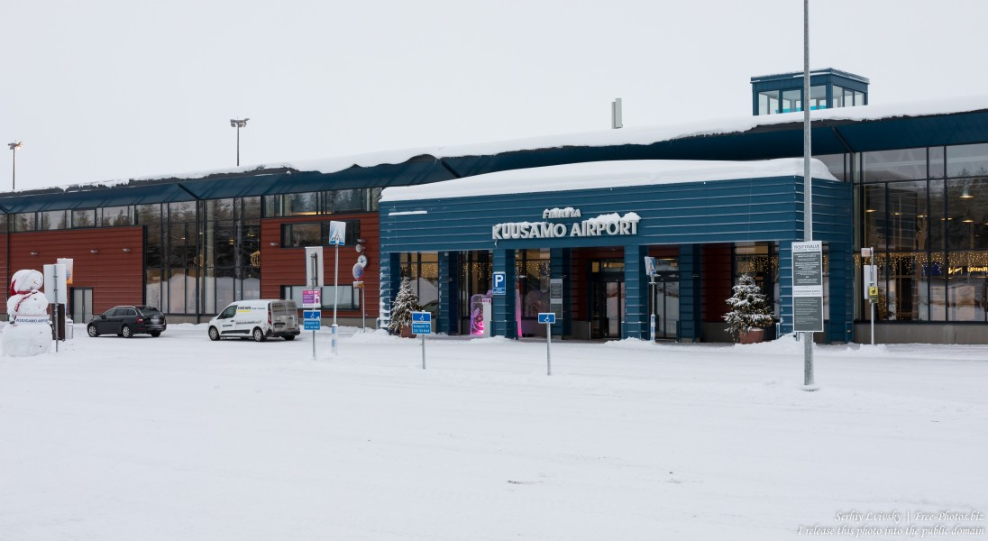 Kuusamo airport, Finland, photographed in January 2020 by Serhiy Lvivsky, picture 1