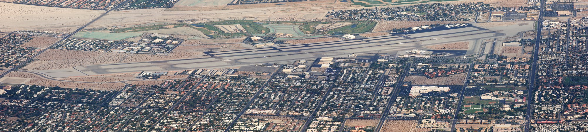 Palm springs airport aerial view