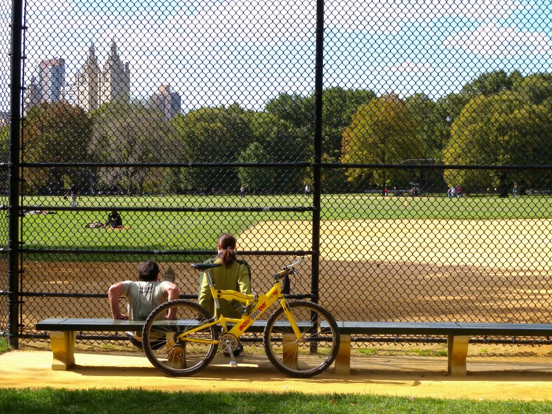 Central Park baseball field in October 2008