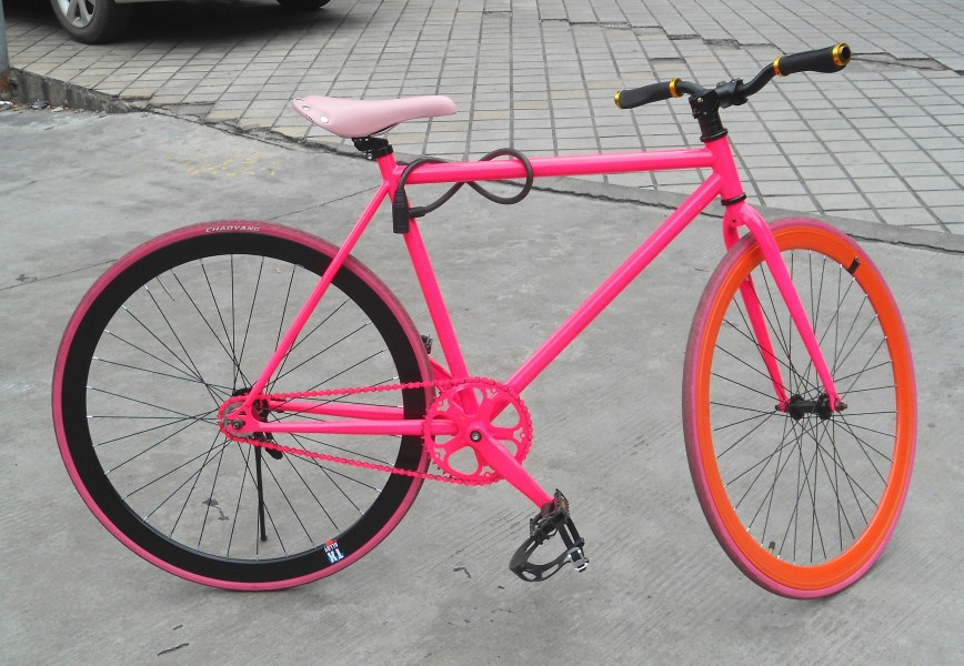 Fixed-gear bicycle in China - 01