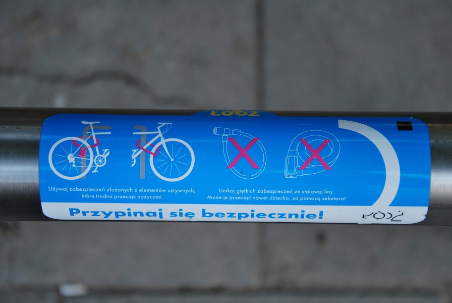 Safety instruction for bicyclists, Łódź