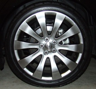 Alloy wheel of a 2007 Subaru Liberty 3.0R Spec B