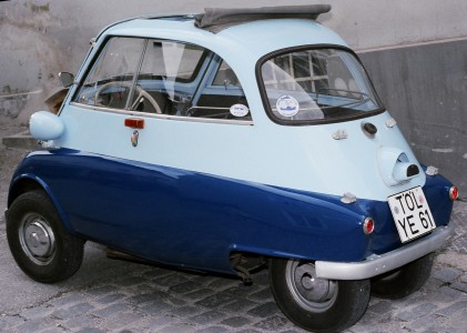 BMW Isetta 300 shot in Bad Tölz, Germany circa 1987 sideview