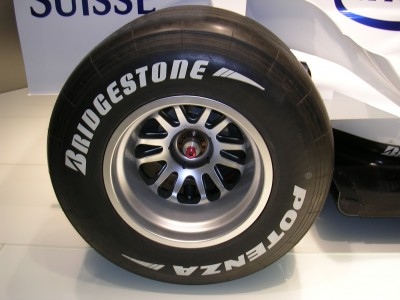 BMW Sauber F1.06 rear wheel - Bridgestone tire