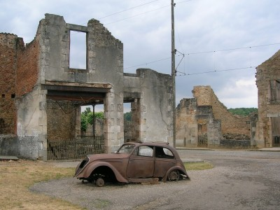 Car in Oradour-sur-Glane