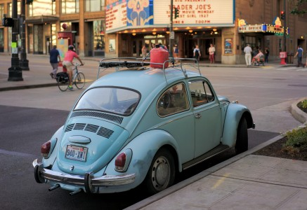 Volkswagen Beetle at the theatre in Seattle