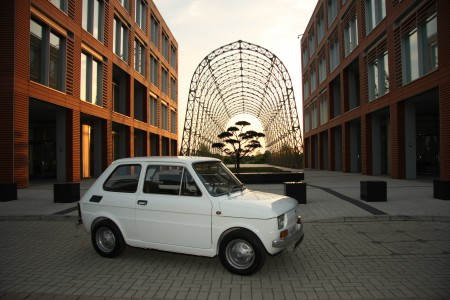 White left hand drive Fiat 126 produced in 1973 11