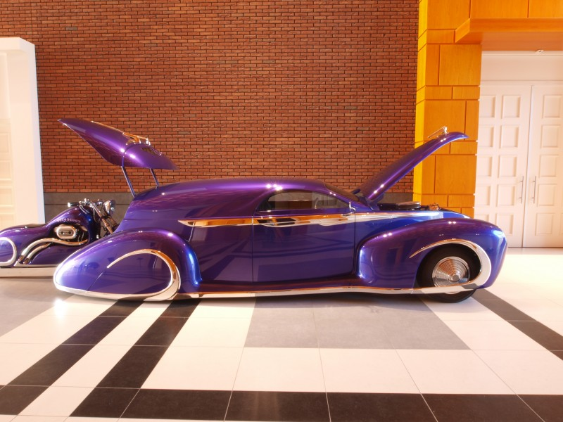 1939 Ford Candy Purple Leadsled Harley Combo p2
