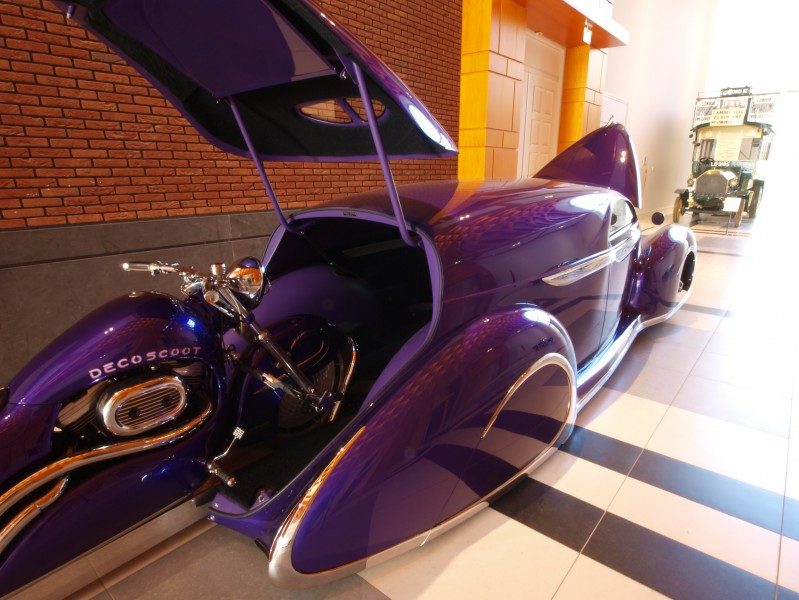1939 Ford Candy Purple Leadsled Harley Combo p3