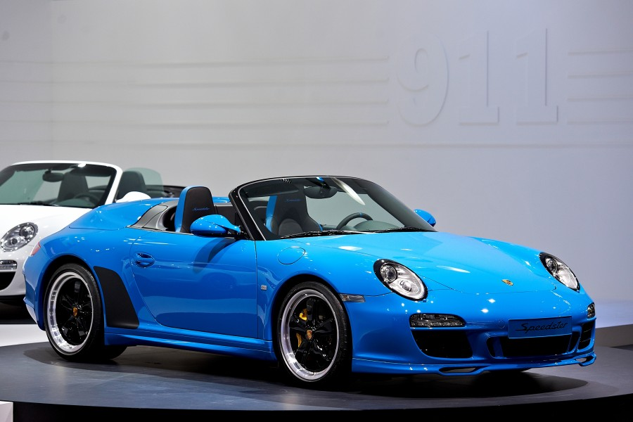 2010 Blue Porsche 911 Speedster 997 Mondial Paris 4013x2675