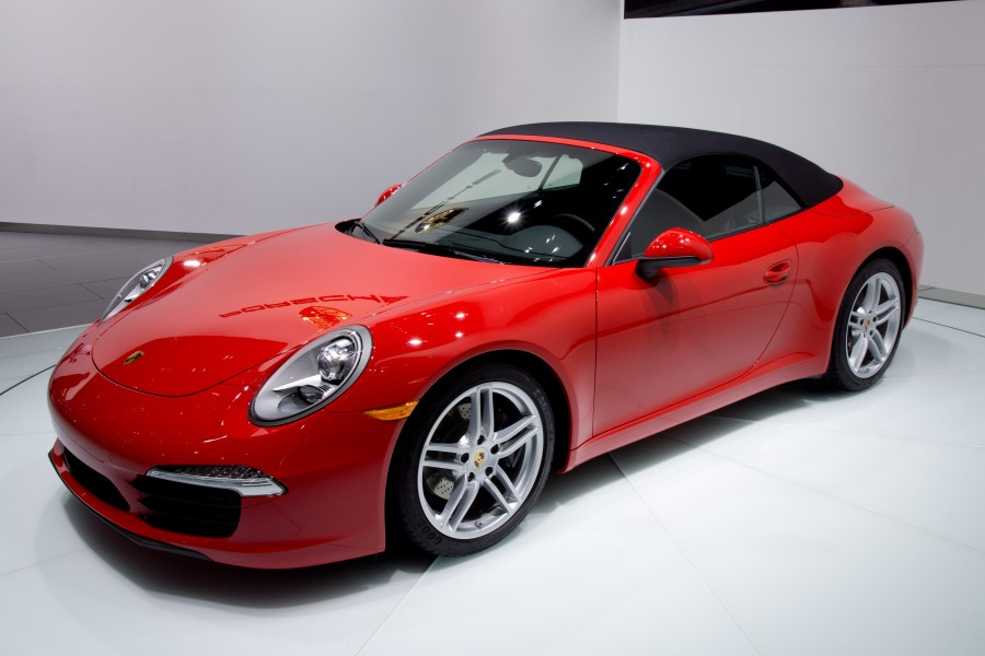 2012 NAIAS Red Porsche 991 convertible (world premiere)