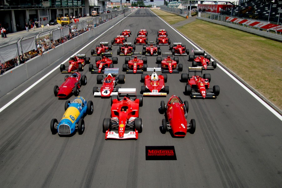 Ferrari Formula 1 lineup at the Nürburgring