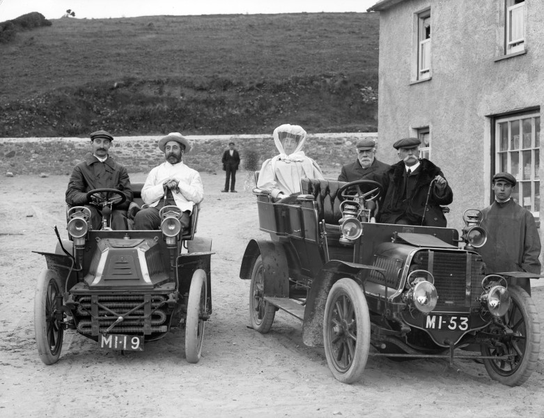 Group in motor cars, Bunmahon, Co. Waterford (5774924883)