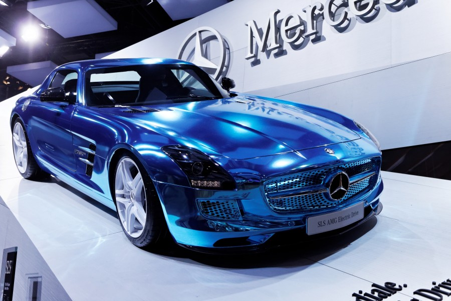 Mercedes - SLS AMG Electric drive - Mondial de l'Automobile de Paris 2012 - 001