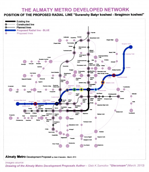"THE ALMATY METRO – the proposed Radial Line ""Suranshy Batyr koshesi – Ibragimov koshesi"""