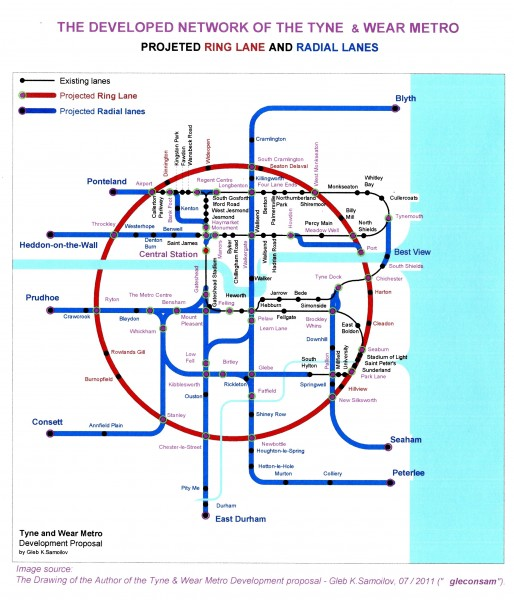 The Tyne and Wear Metro. The Conception of the Network Development - 2011