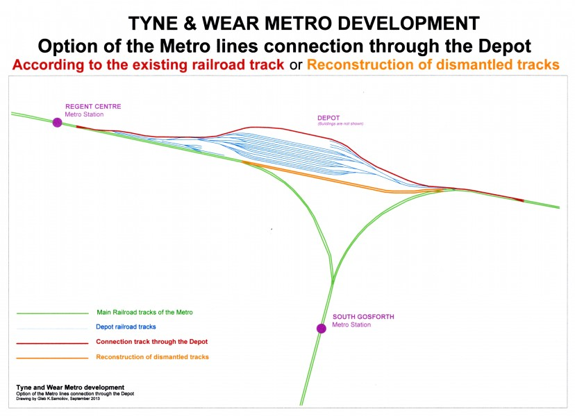 Option of the Tyne and Wear Metro lines connection through the Depot
