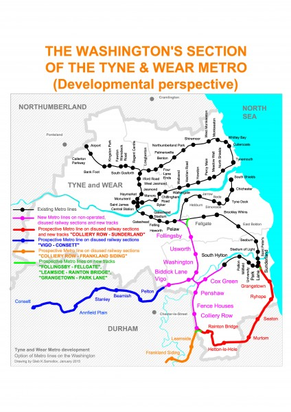 The Washington's section of the Tyne & Wear metro (Perspective)