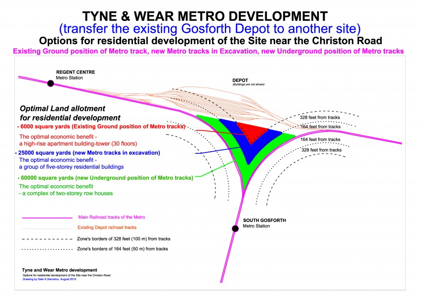 Tyne and Wear Metro North tracks fork as the potential site for construction
