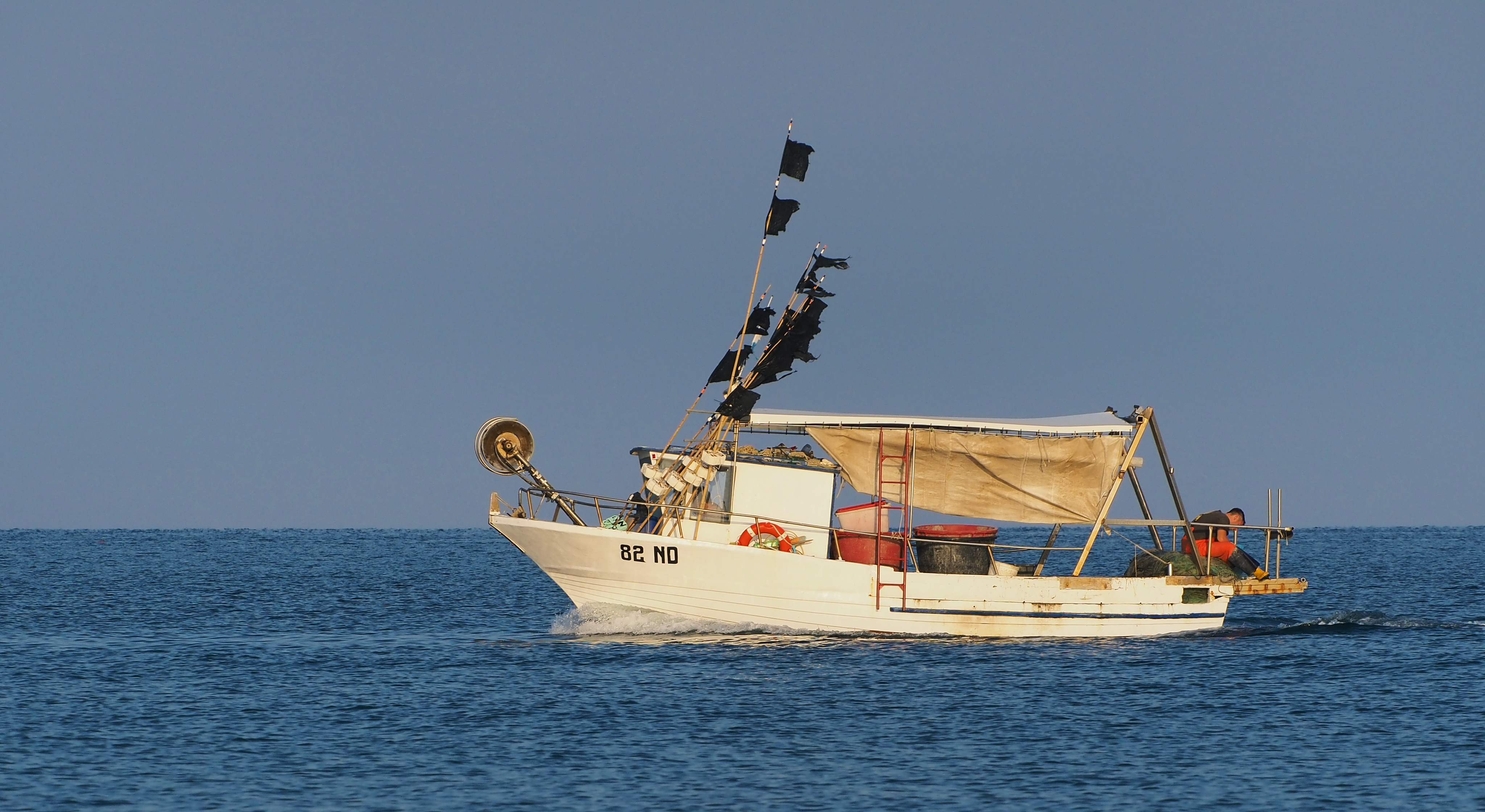 Fishing boat in Adriatic Sea