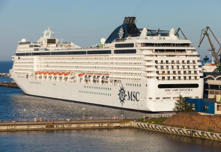 MSC Orchestra ship in Gdynia, Poland, Baltic sea, June 2014, photo 1/2