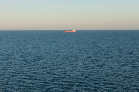 a ship in the Baltic sea in June 2014