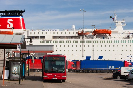 a Stena Line ferry in Karlskrona, Sweden, Baltic sea, June 2014
