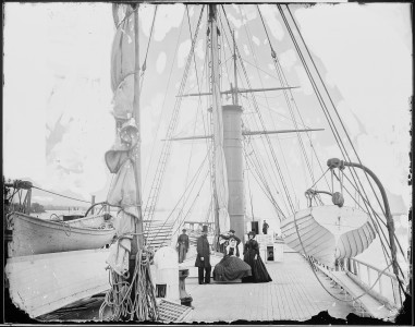 Deck view of steamer