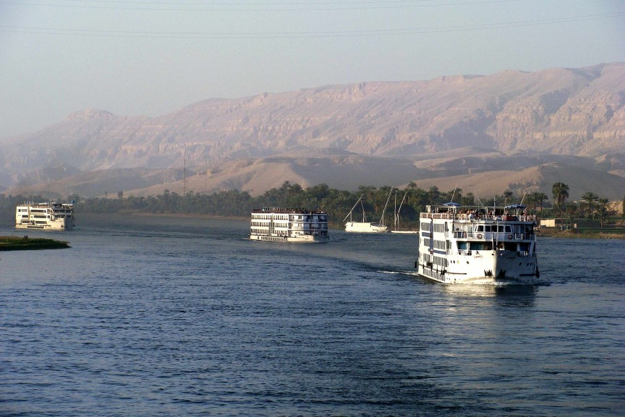 008 Passenger ships of Egypt, Edfu, Nile river 2010