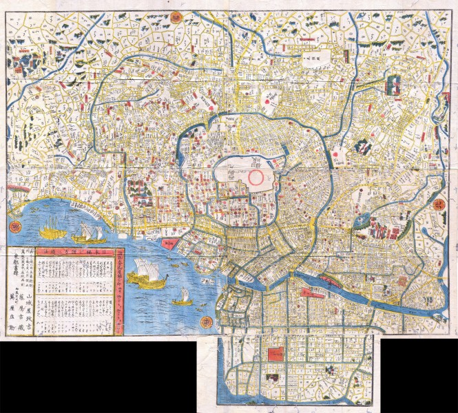 1849 Edo Period Japanese Woodcut Map of Edo or Tokyo Japan - Geographicus - Edo-japan-1849