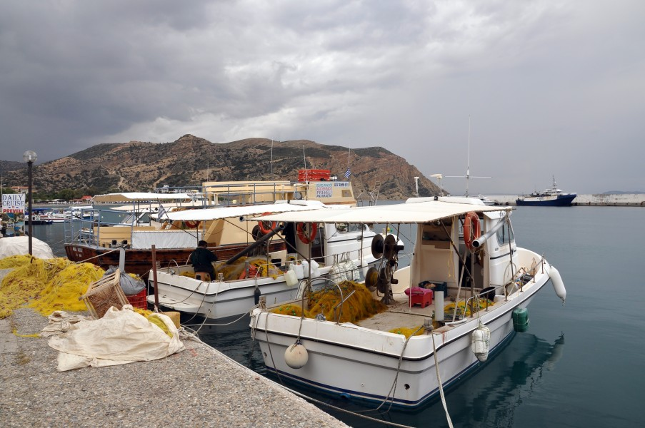 Agia Galini harbour in Crete, Greece 001