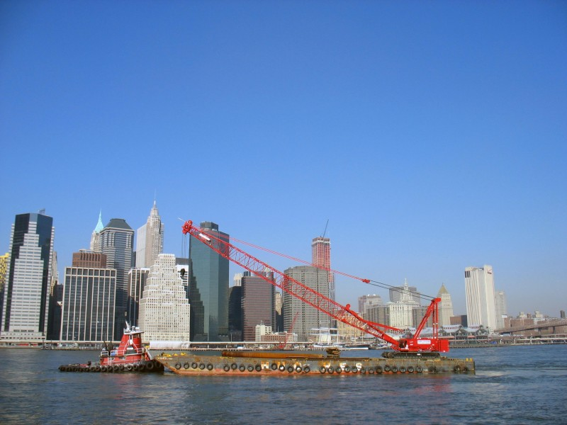 Barge, East River
