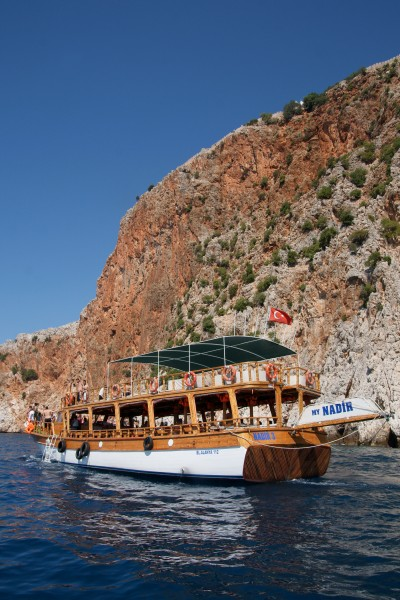 Boat in Alanya Peninsula