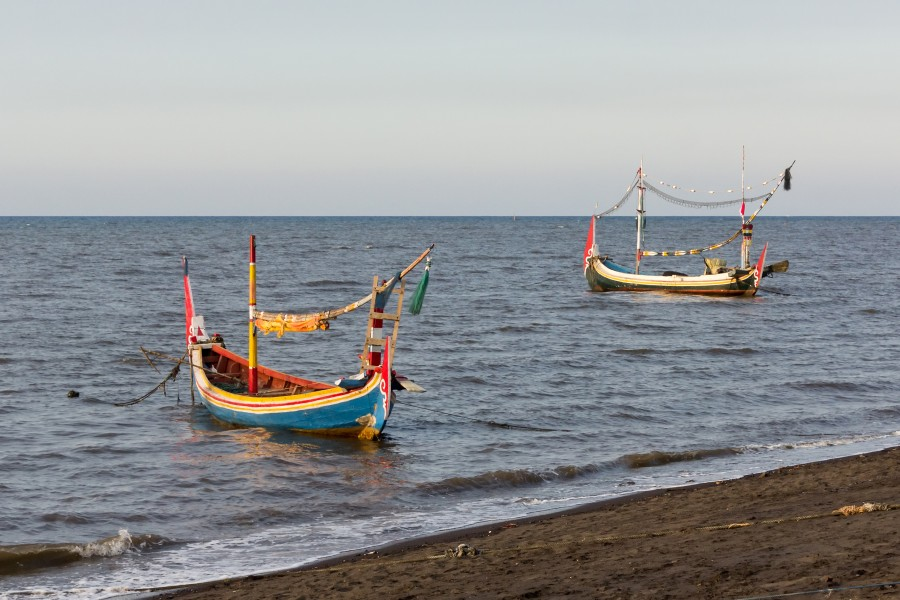 Boats at Duta Beach, Paiton, Probolinggo, East Java, 2017-09-14