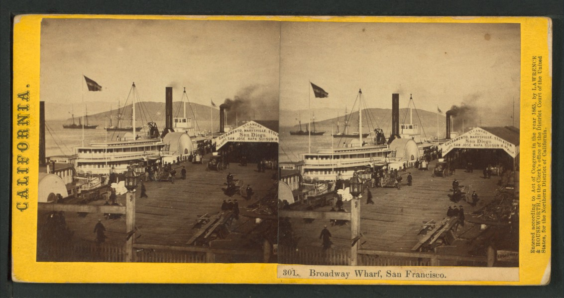 Broadway Wharf, San Francisco, by Thomas Houseworth & Co.