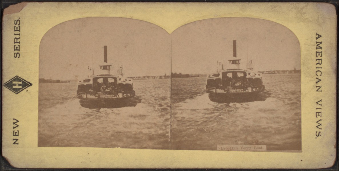 Brooklyn Ferry Boat, from Robert N. Dennis collection of stereoscopic views