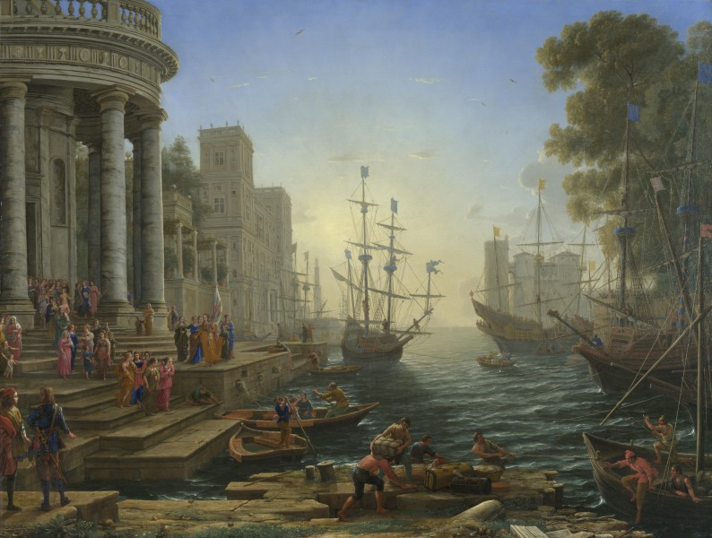 Claude Lorrain - Seaport with the Embarkation of Saint Ursula