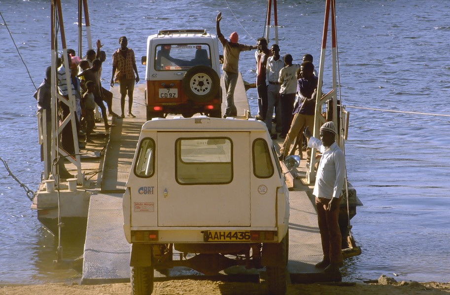Crossing the Kafue (Zambia)